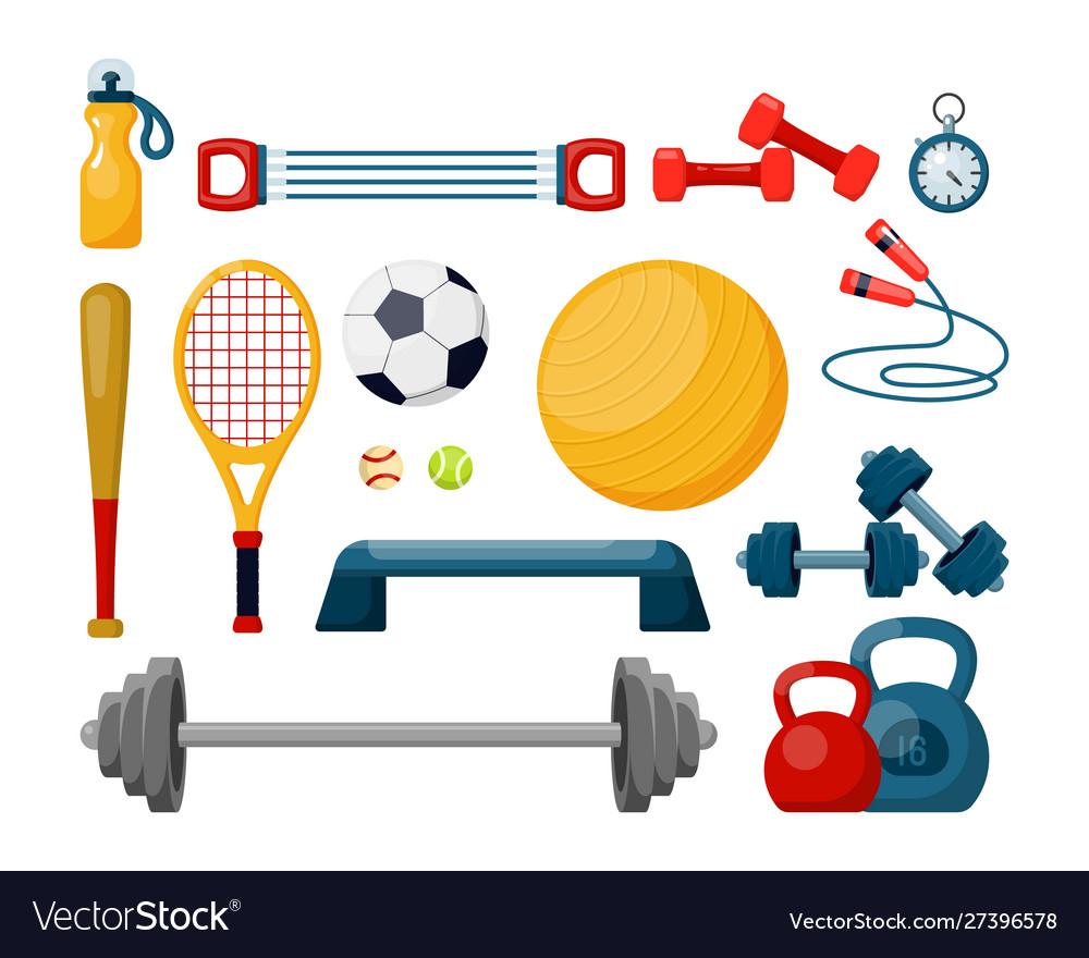 Sport equipment flat set