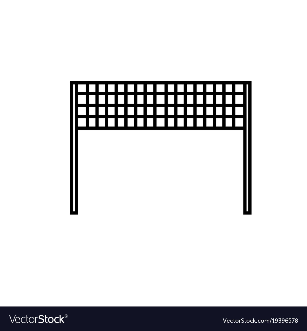 Volleyball net icon vector image