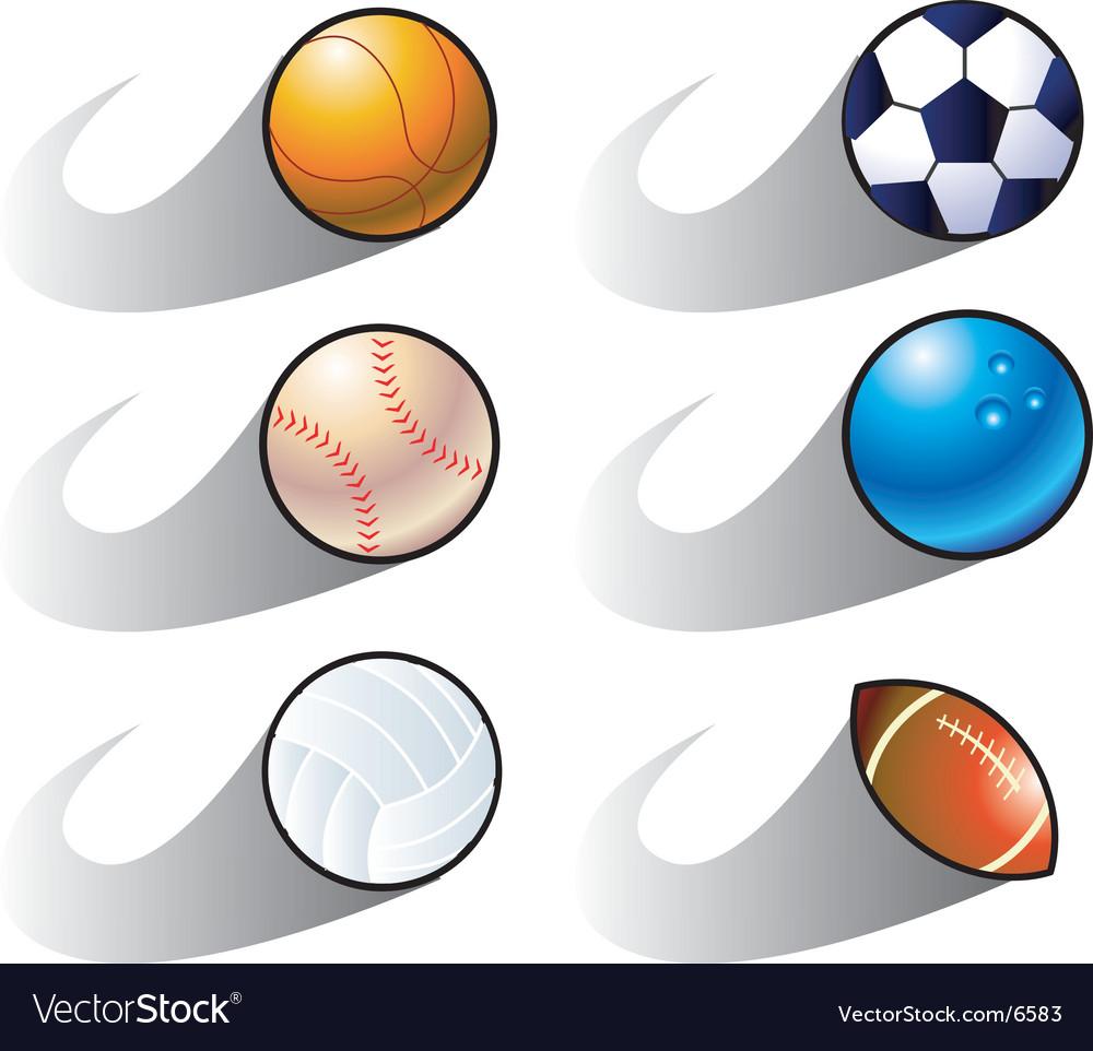 Balls seedy vector image