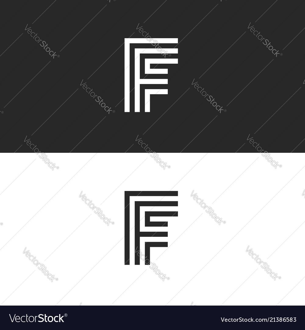 F letter monogram identity logo minimal style