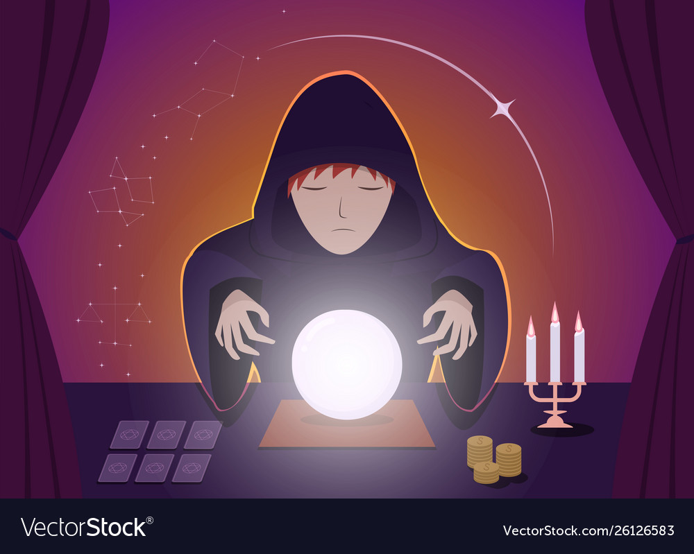 Gypsy fortune tellers using magic ball art
