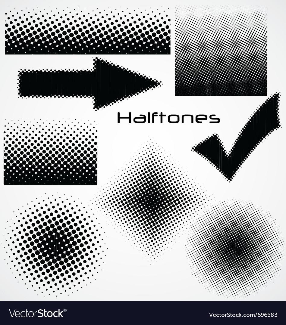 Halftone dot - set for your design vector image