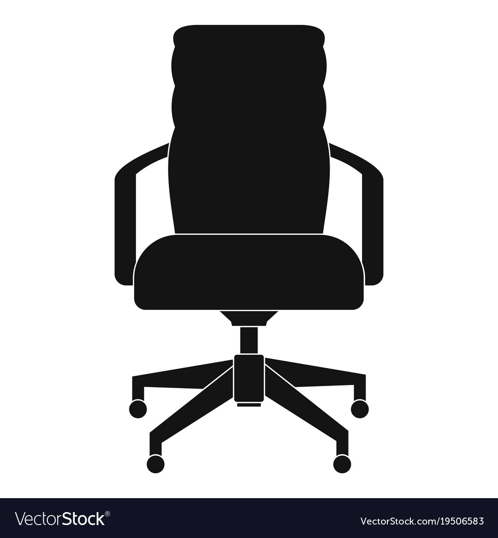 Simple office chair Affordable Office Chair Icon Simple Style Vector Image Vectorstock Office Chair Icon Simple Style Royalty Free Vector Image