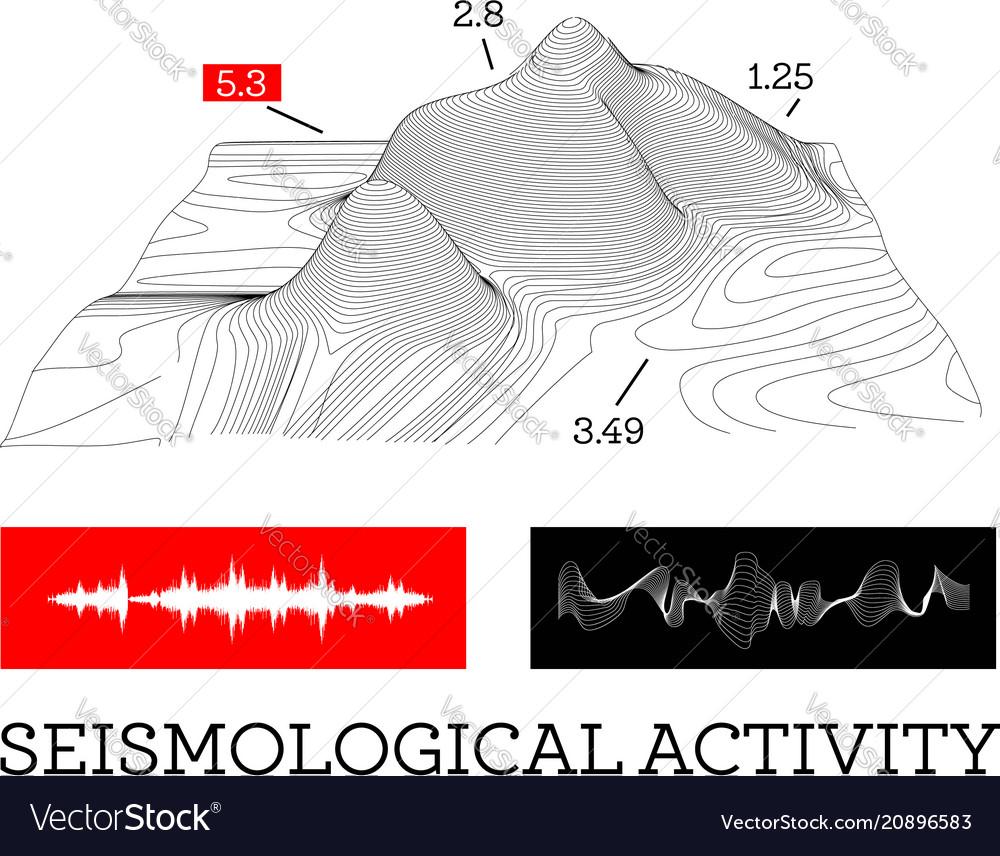 Seismic activity infographics