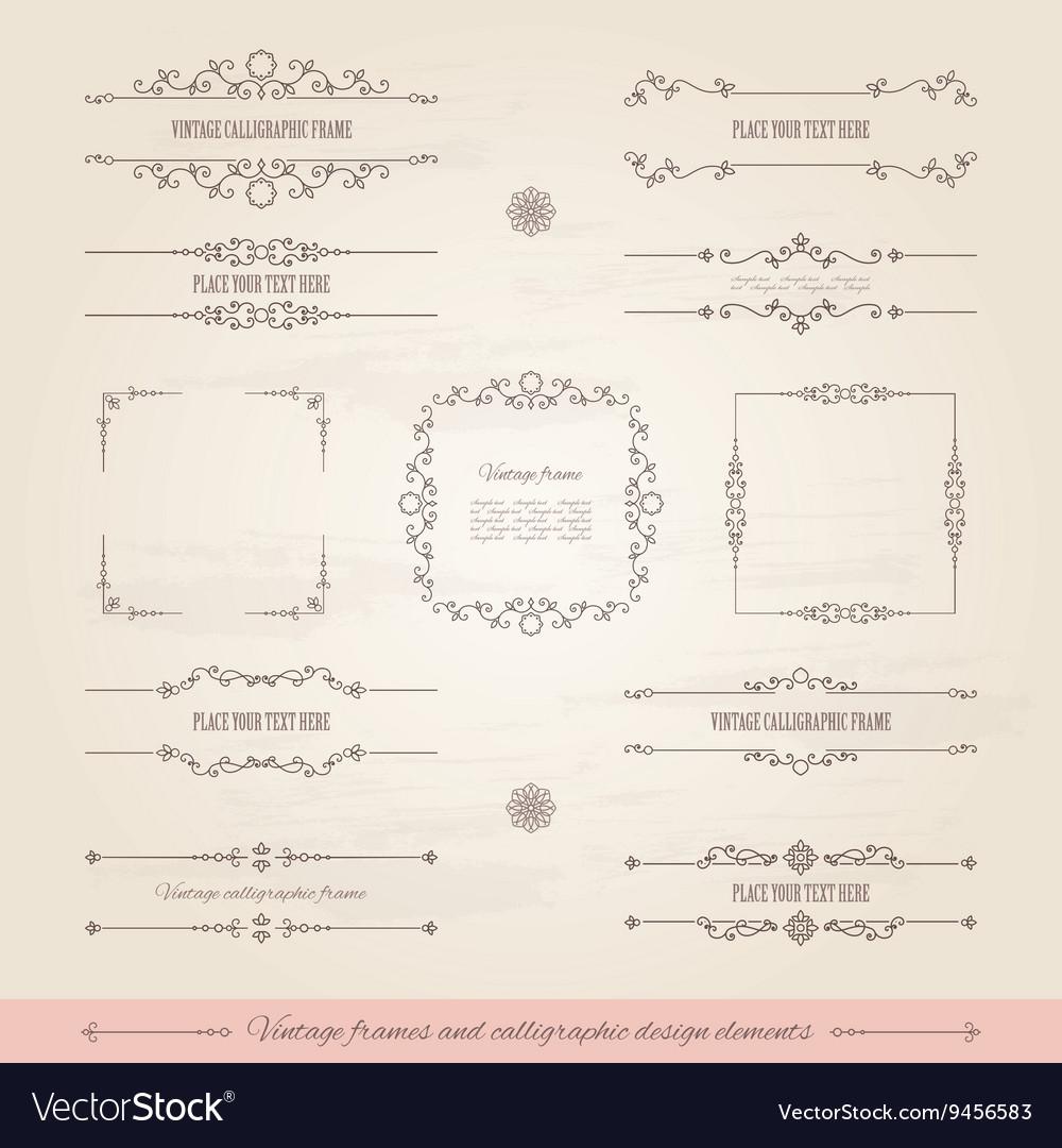 Vintage frames and page decoration set
