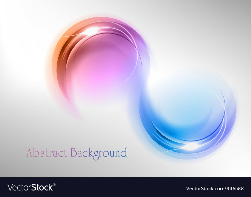 Abstract shape smoke double white blue purple