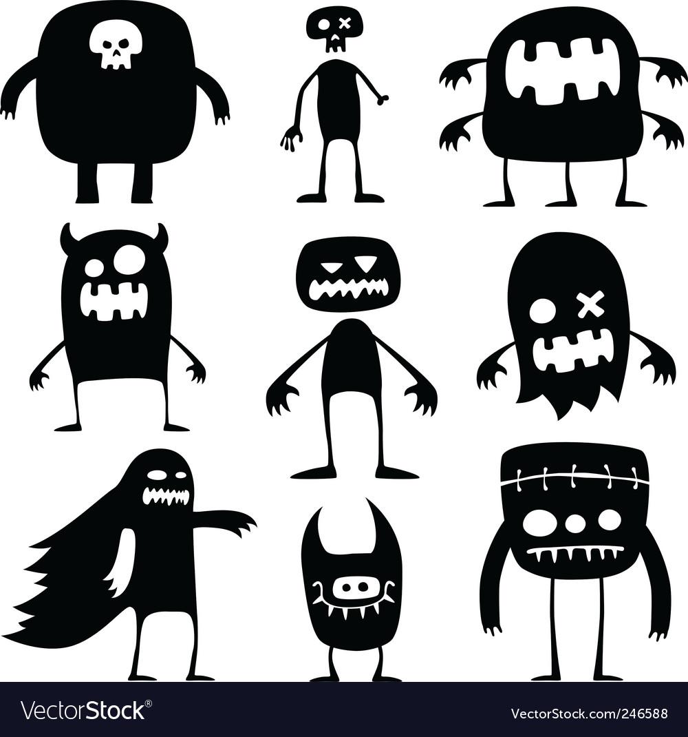 Halloween Monsters Royalty Free Vector Image Vectorstock