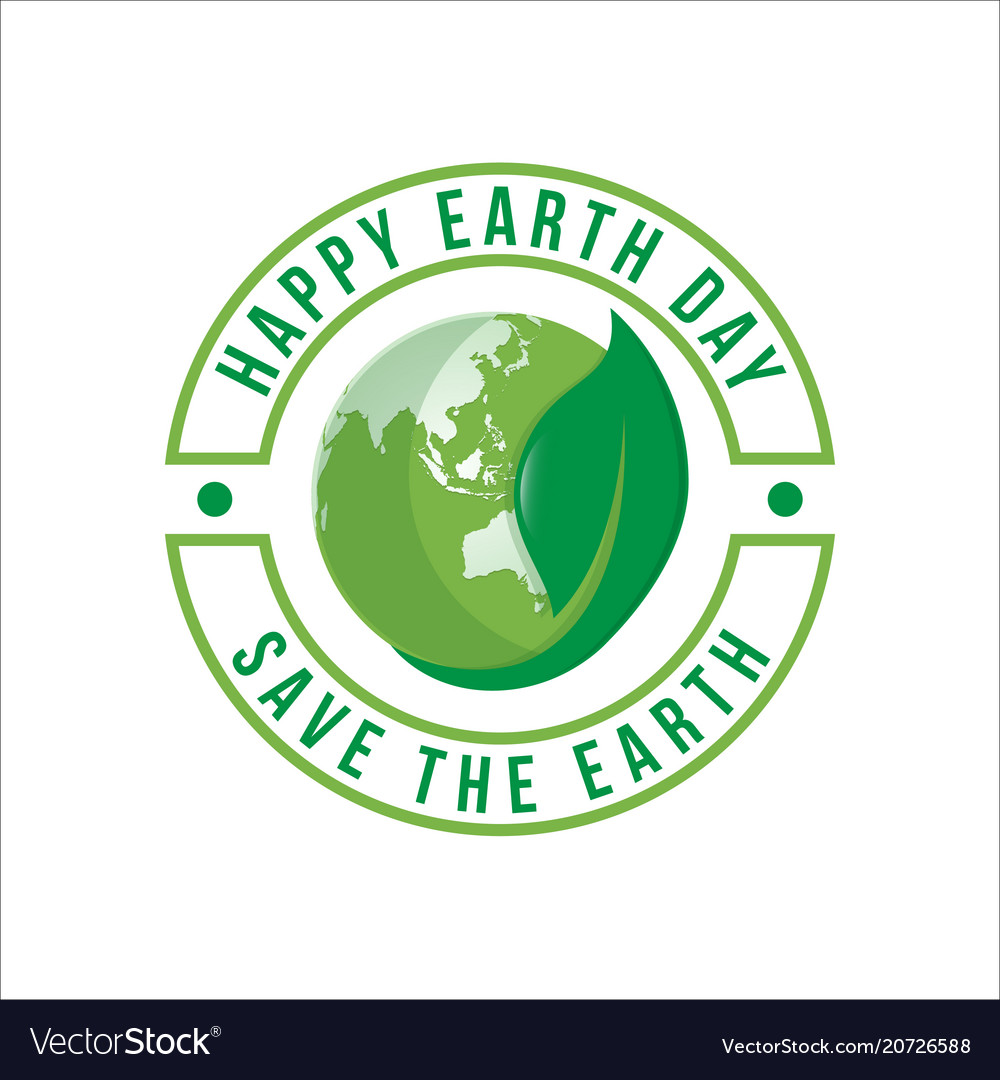 Happy earth day logo design