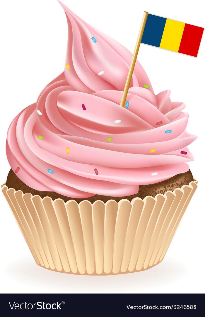Romanian Cupcake vector image