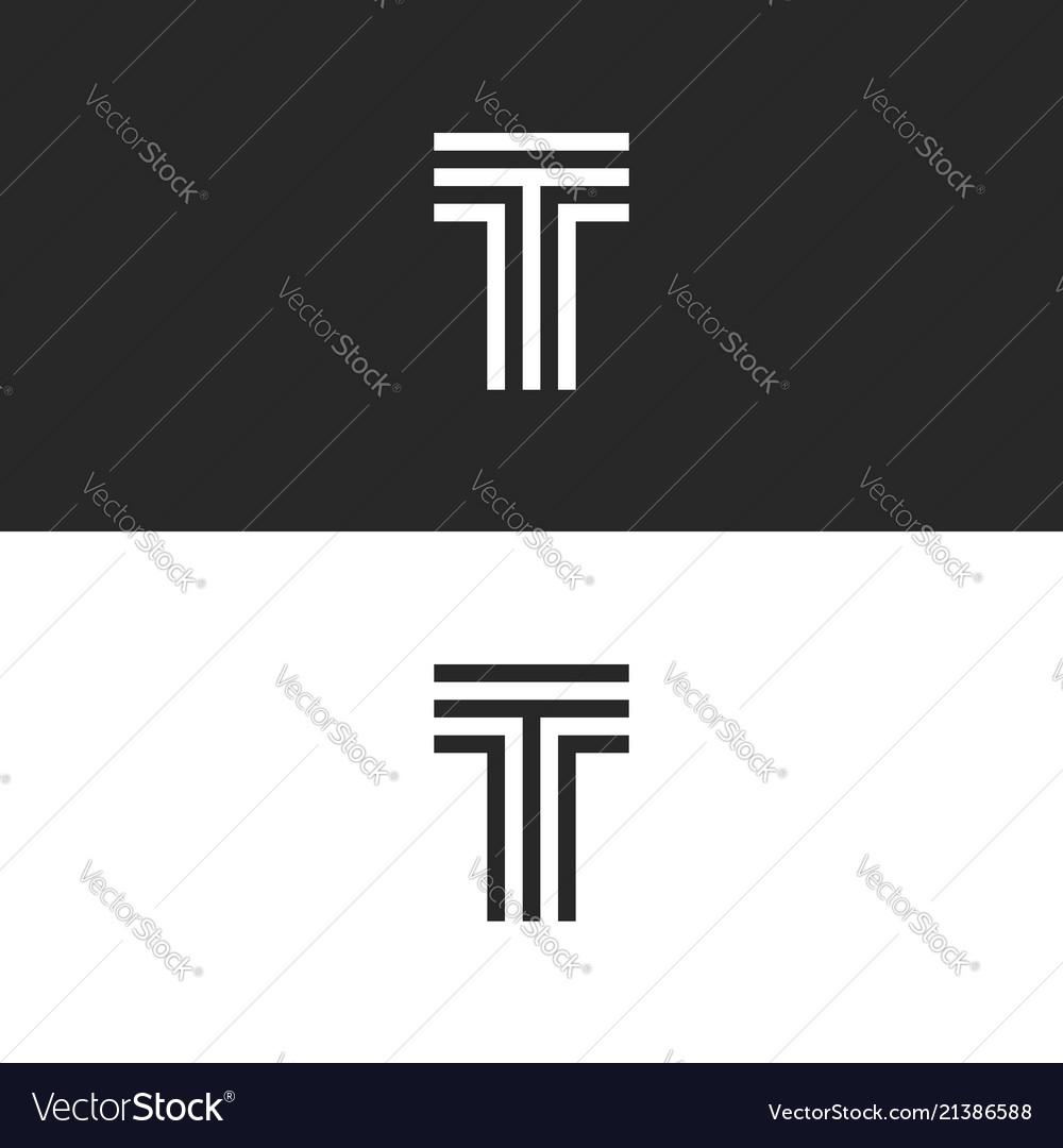 Simplest logo t letter monogram capital letter