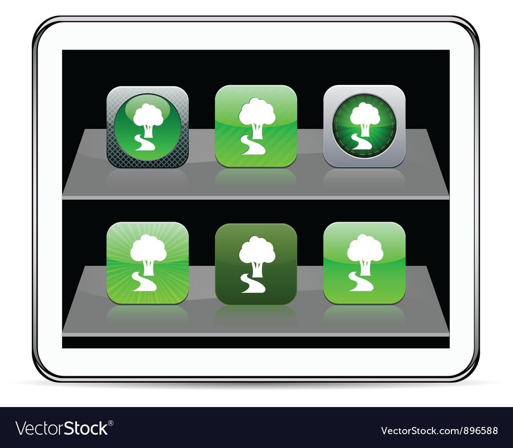Tree green app icons