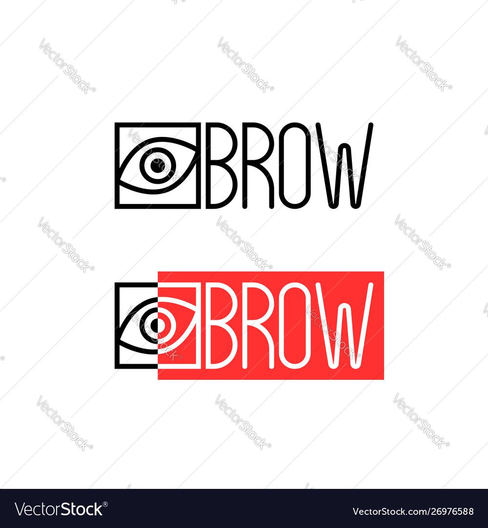 Two thin line eyebrow logo