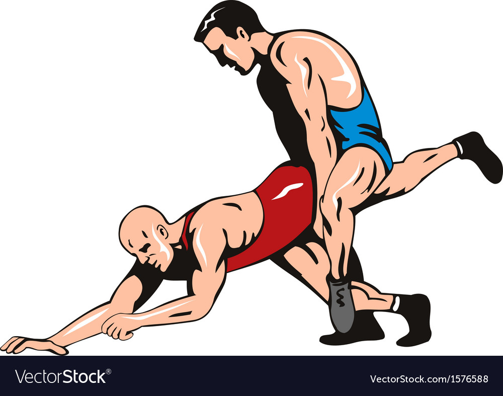 Wrestlers Fighting Retro