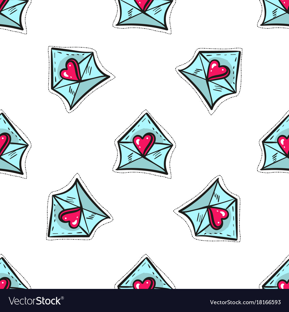 Abstract seamless pattern with letter with
