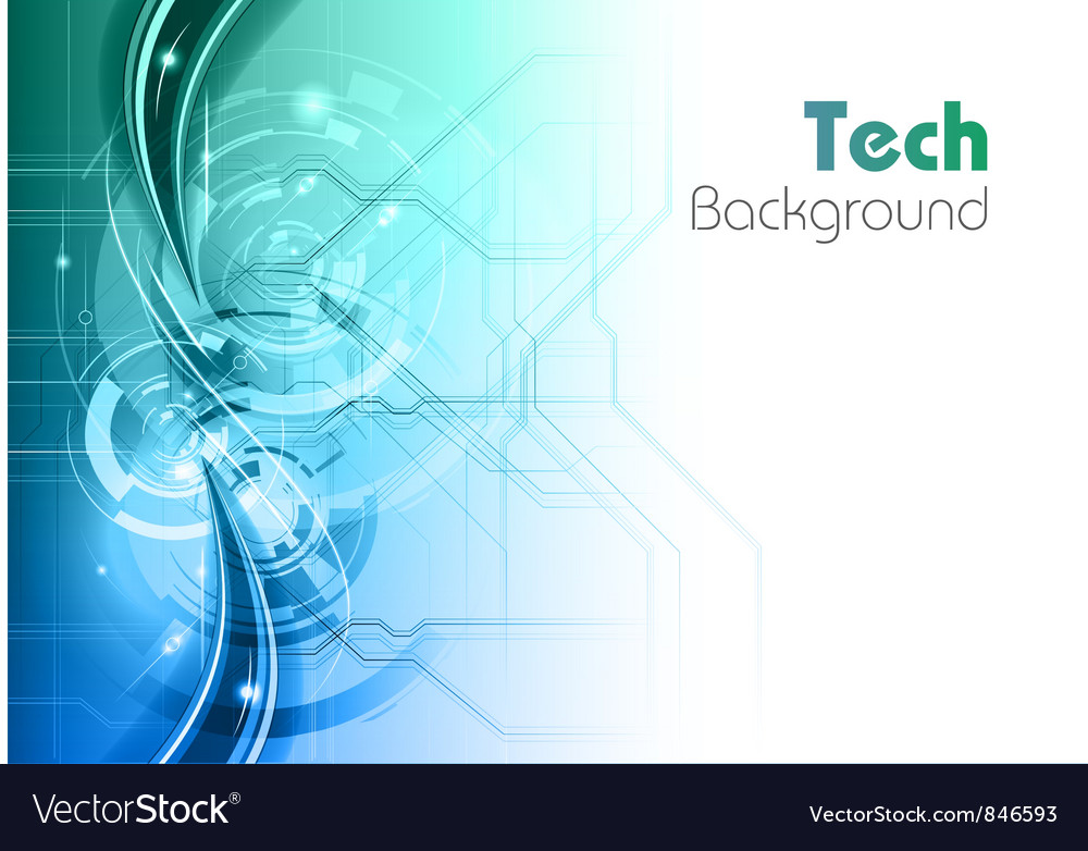 Background line wave light tech turquoise