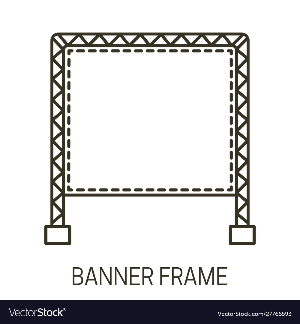 Banner frame icon and outdoor advertising display