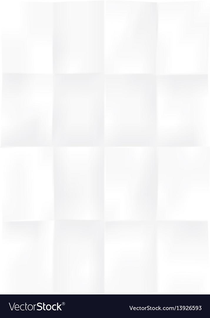 Blank rectangle sheet of paper folded