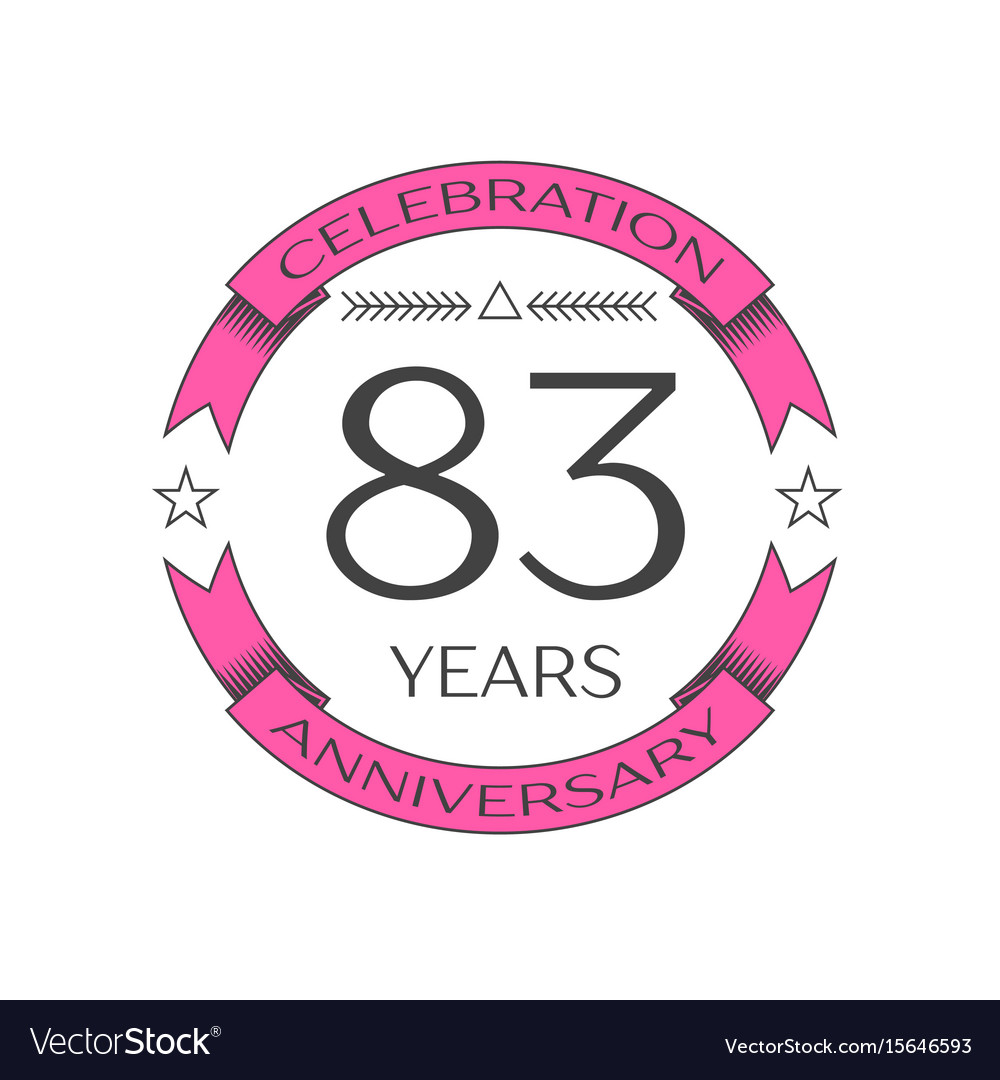 Eighty three years anniversary celebration logo