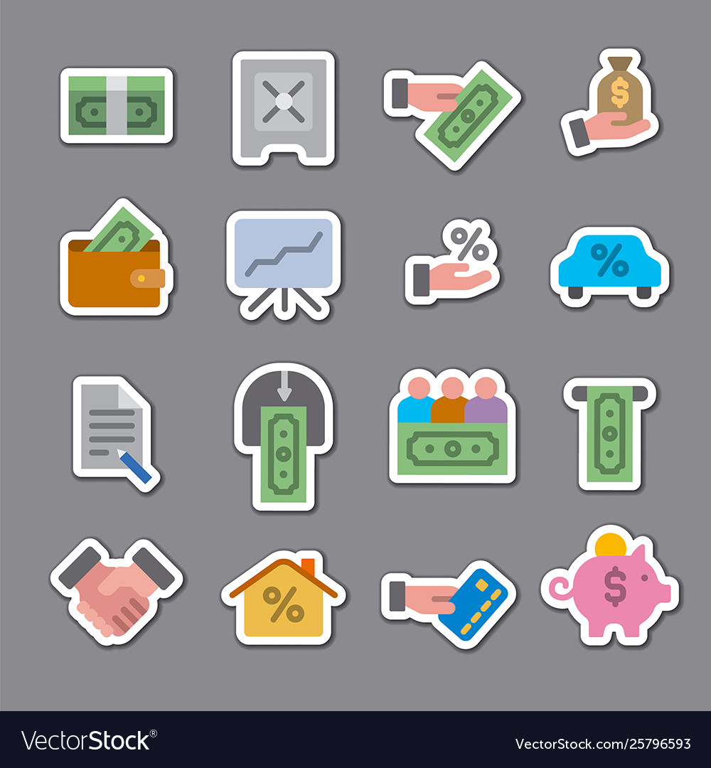 Finance color stickers