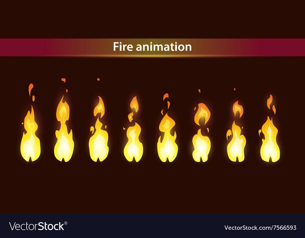 Fire animation sprites