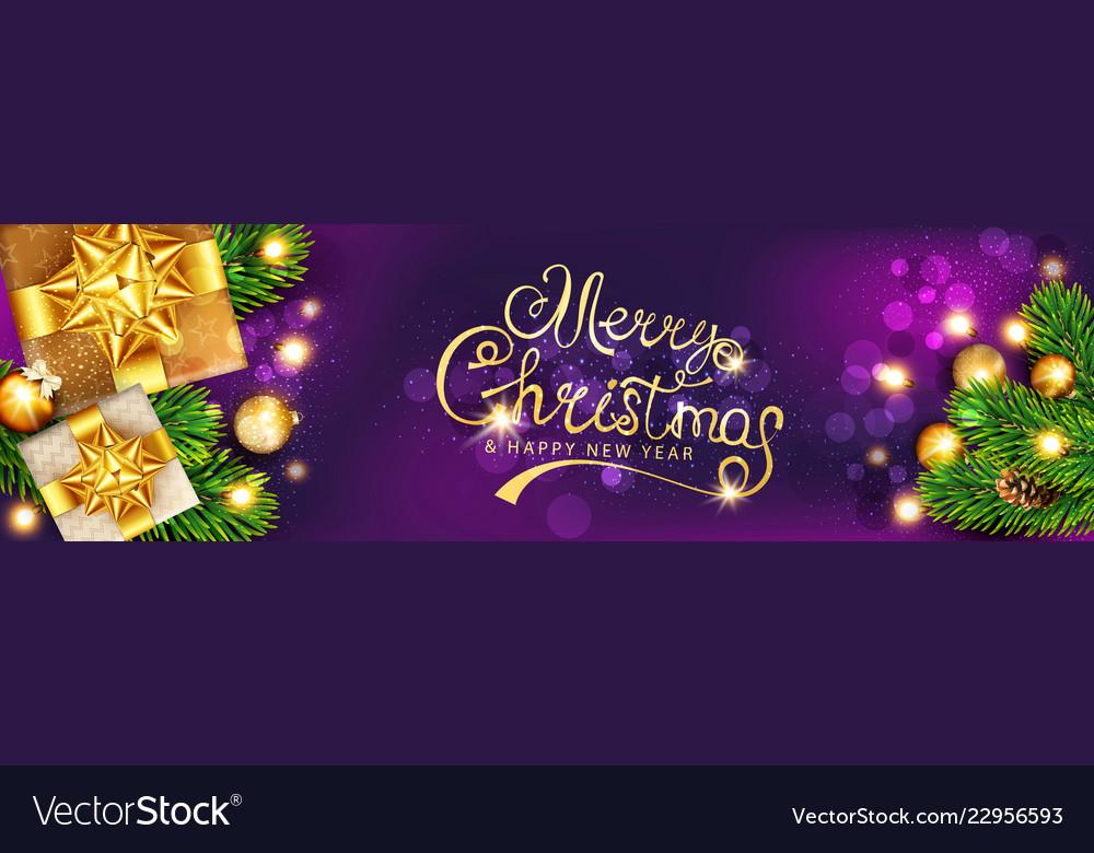 Horizontal christmas xmas gold