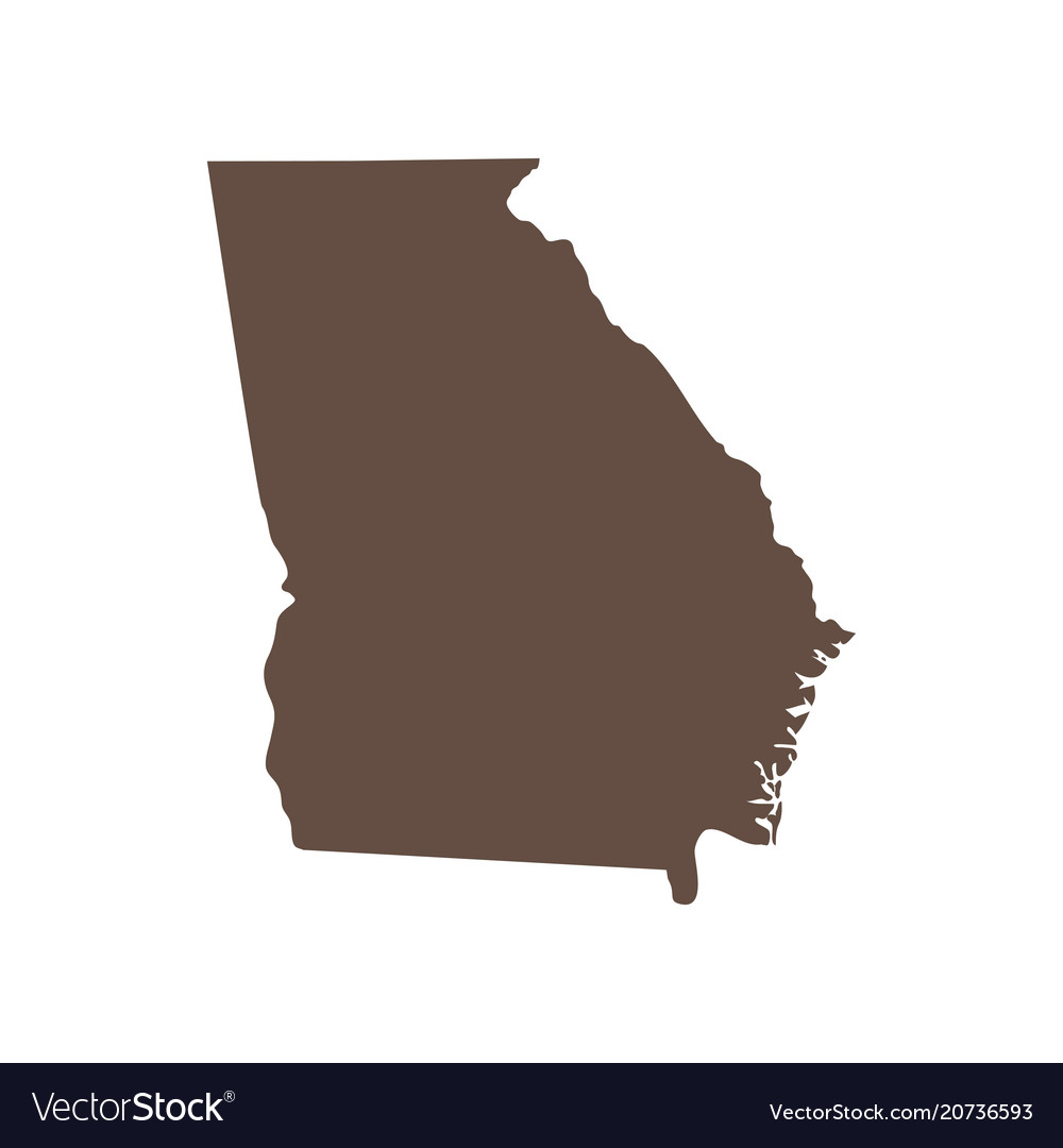 Map of the us state of georgia