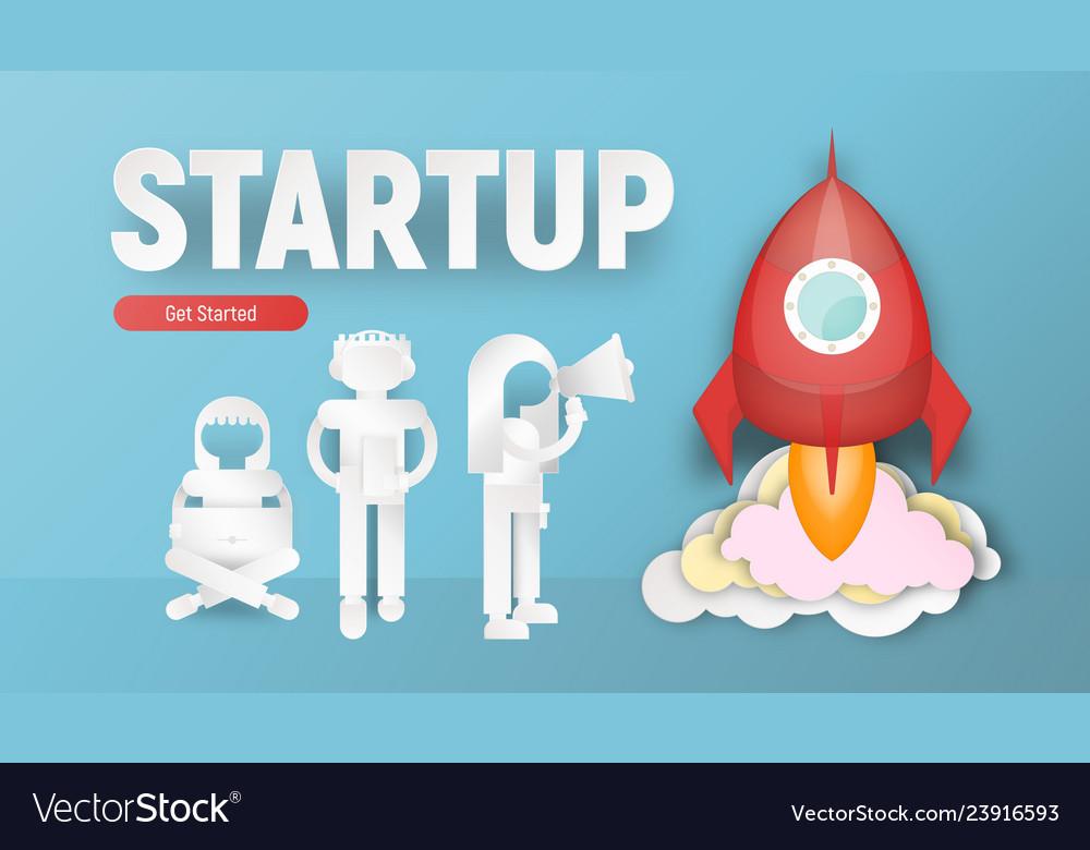 Startup concept paper art