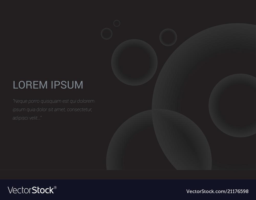 Abstract dark background splash header