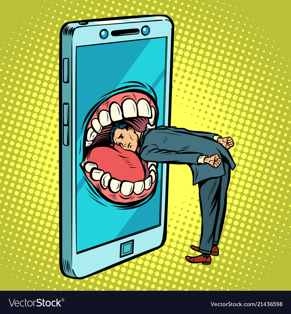 Dangerous phone look online and the internet
