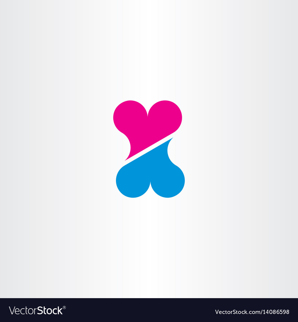 Heart abstract valentine icon