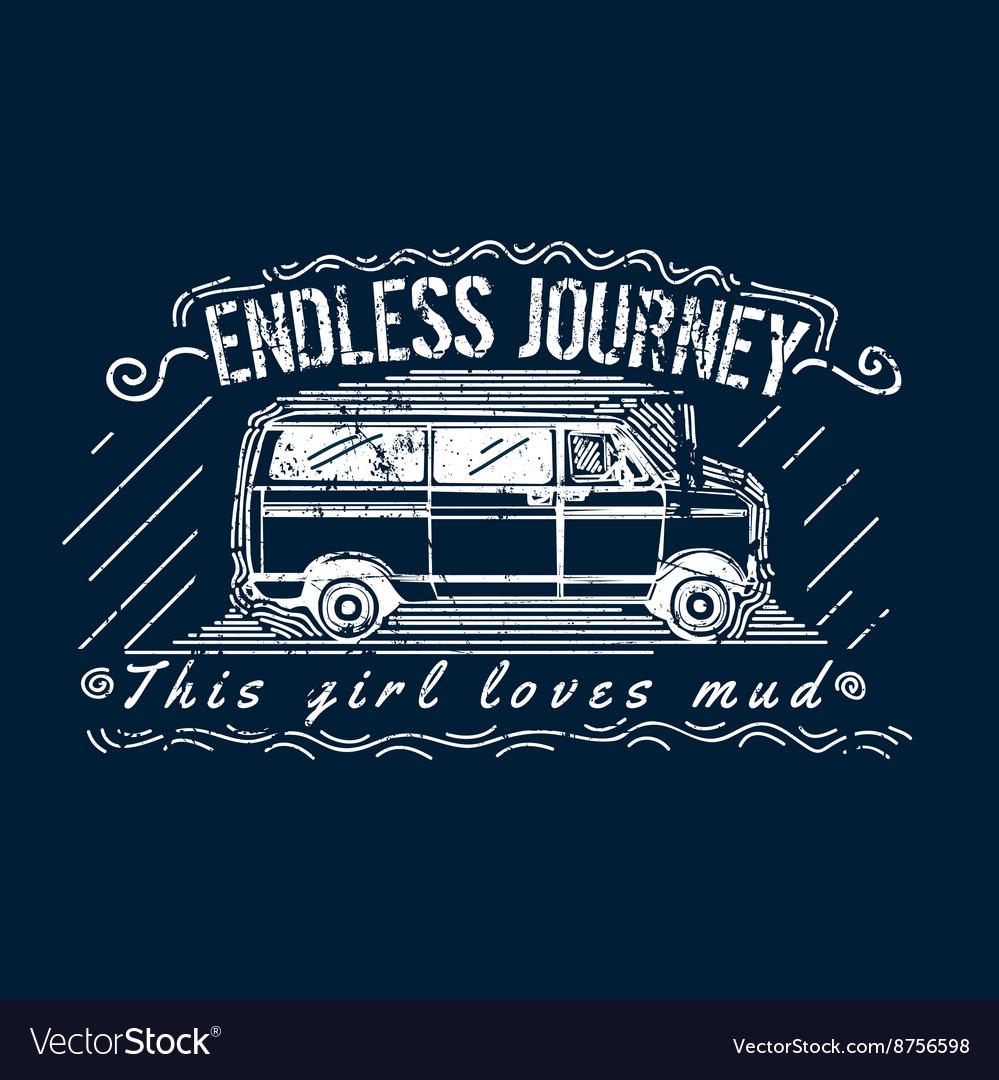 Truck T-shirt Print Design