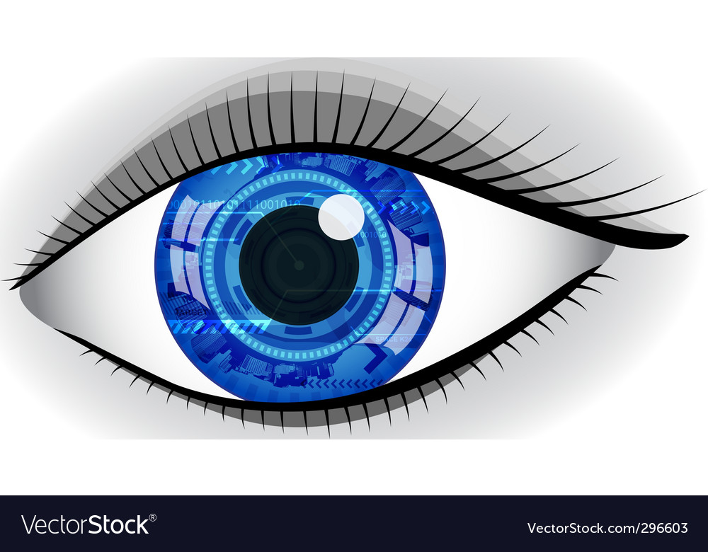 Abstract eye vector image