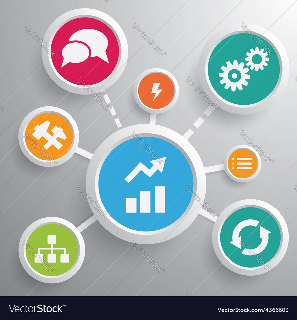 Business growing strategy design vector image