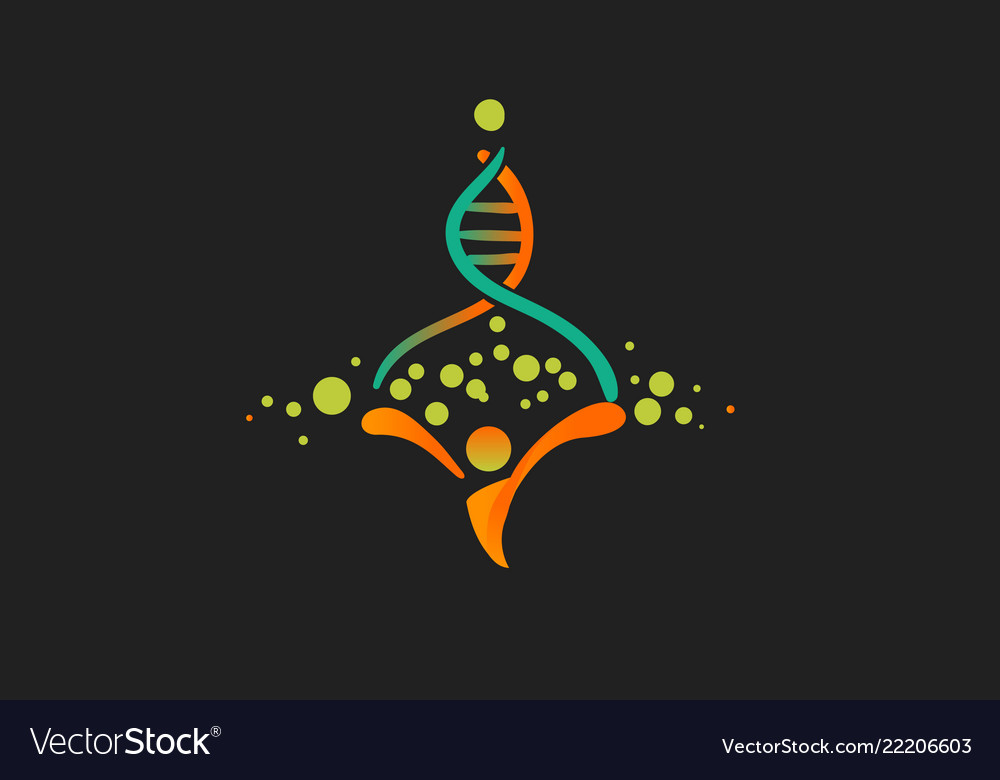Human genome logo the origin of life and