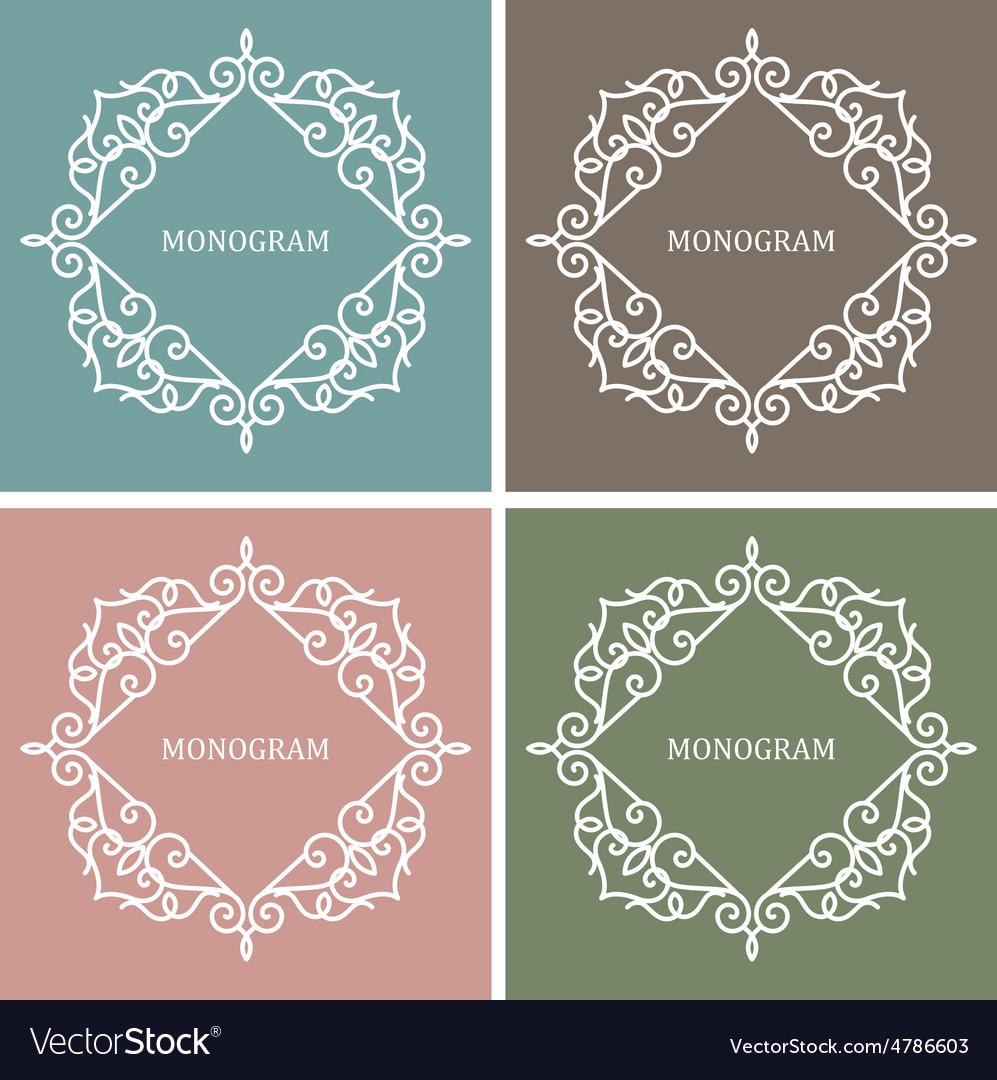 Monogram Design Frame