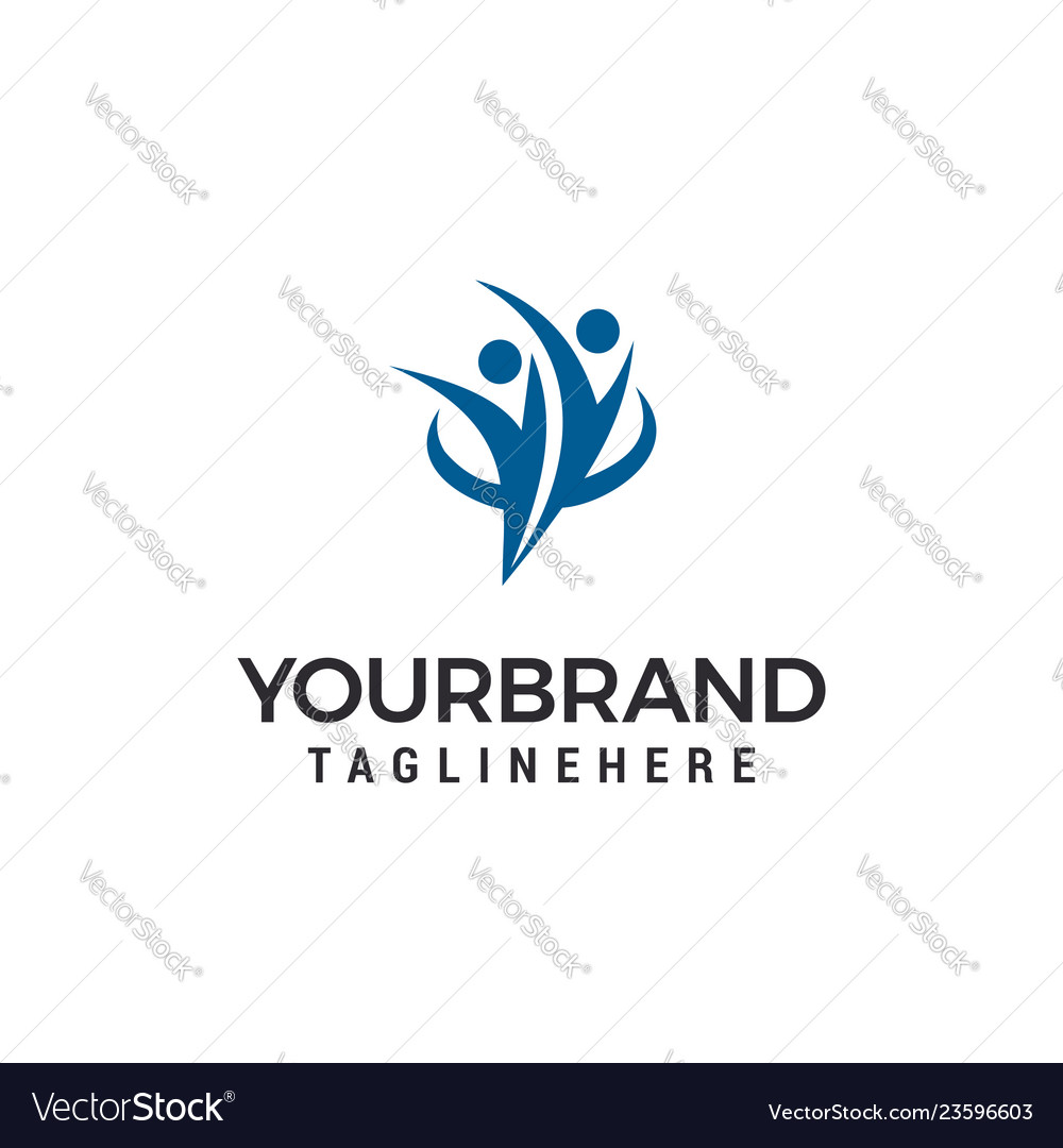People couple business logo template design