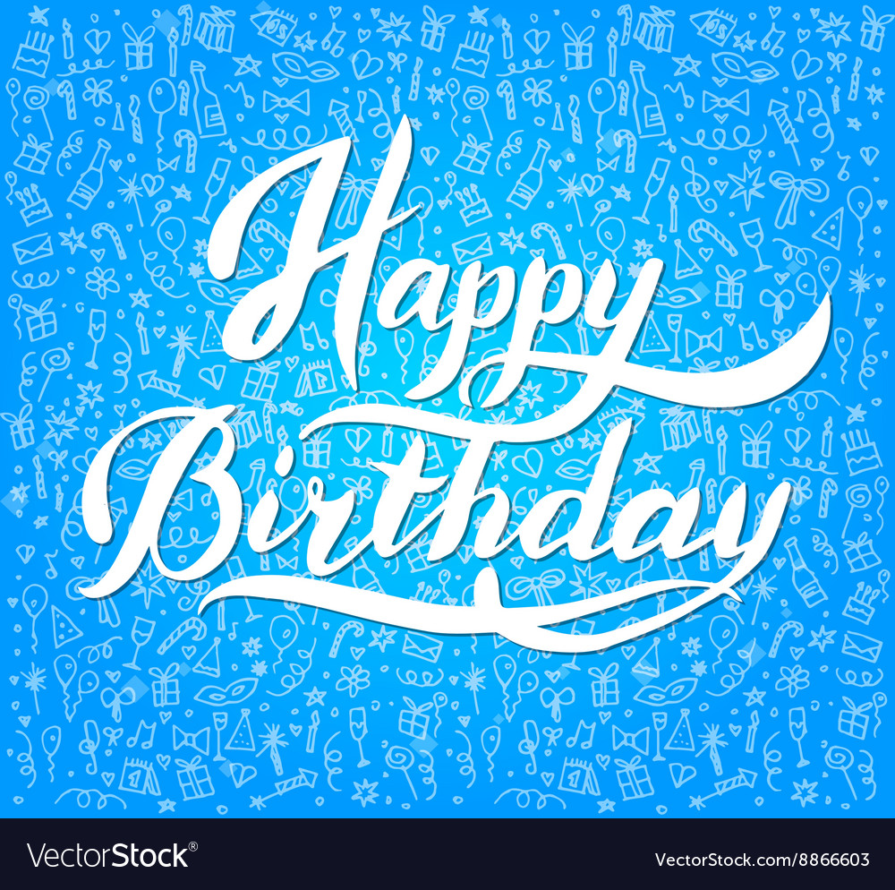 Vintage Happy Birthday Typographical Background
