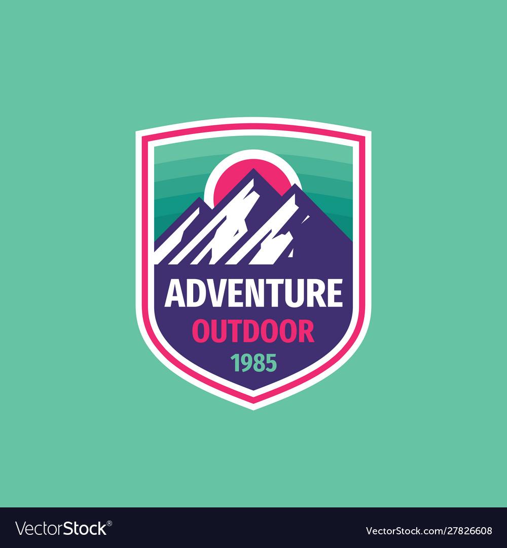 Adventure outdoor - concept badge design mountain