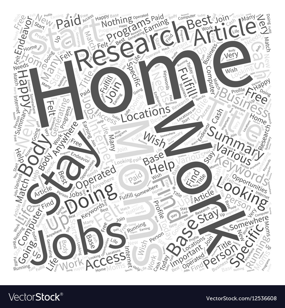 At Home Jobs For Stay At Home Moms Word Cloud