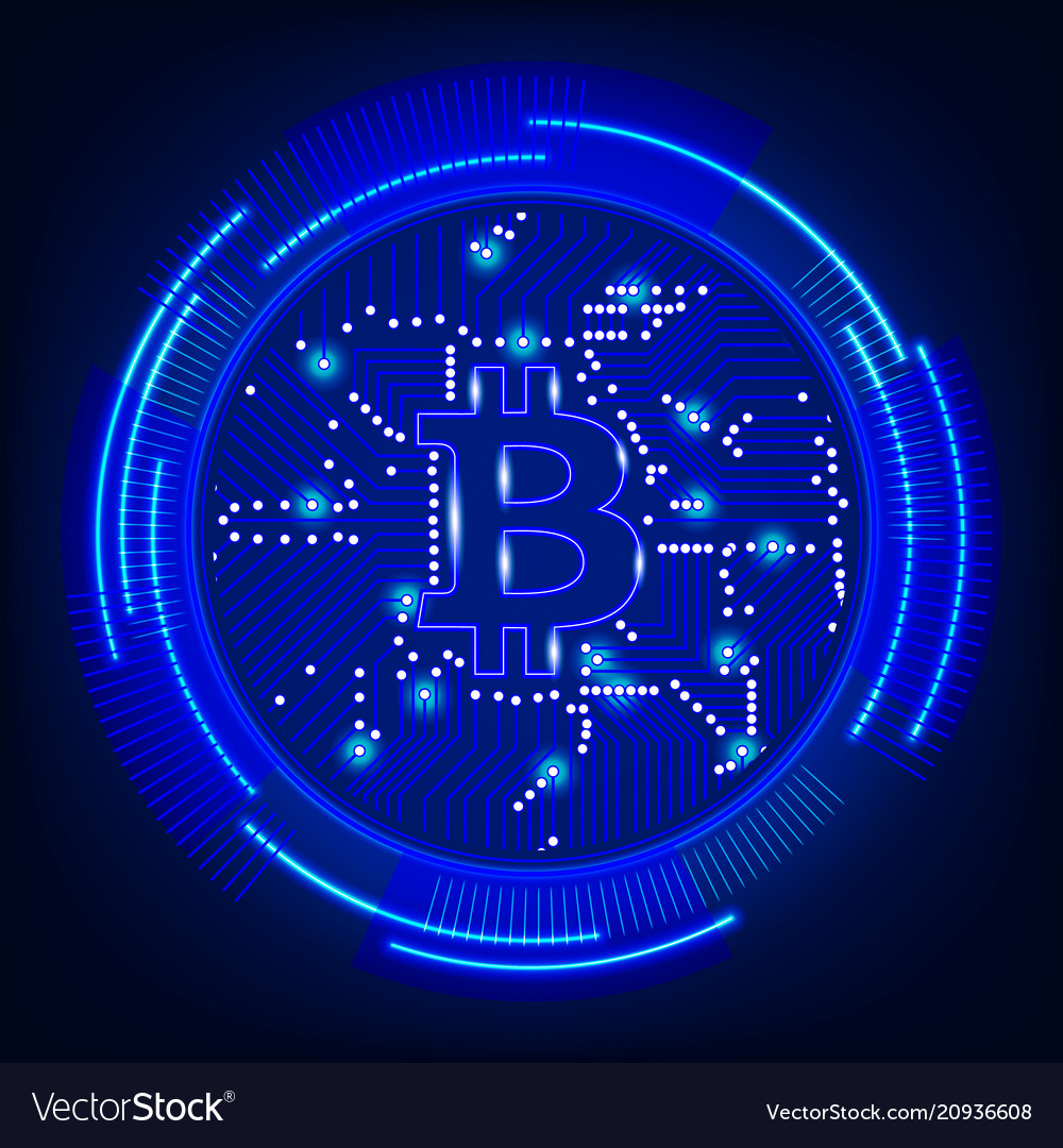 Bitcoin digital currency technology concept