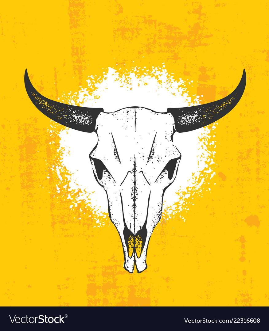 Cow skull wild west rough