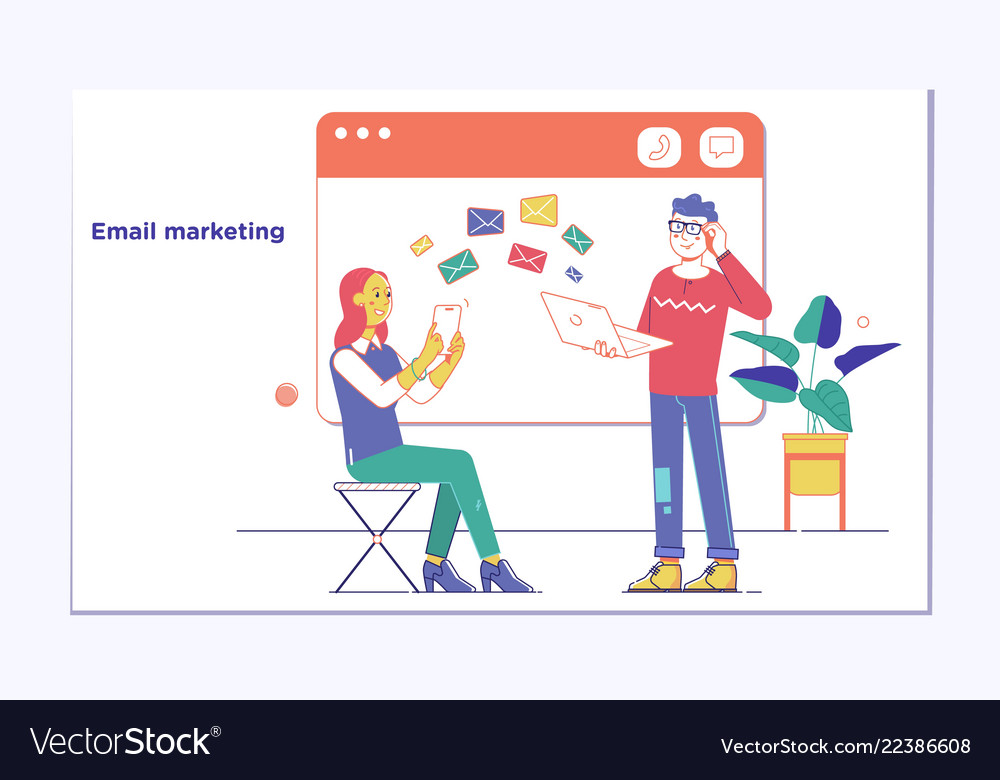 Email marketing and many envelopeslectronic mail
