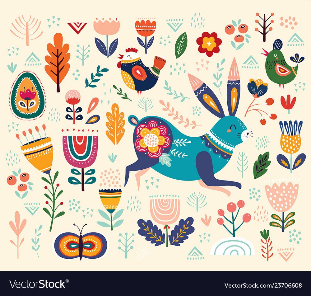 Ethnic easter pattern