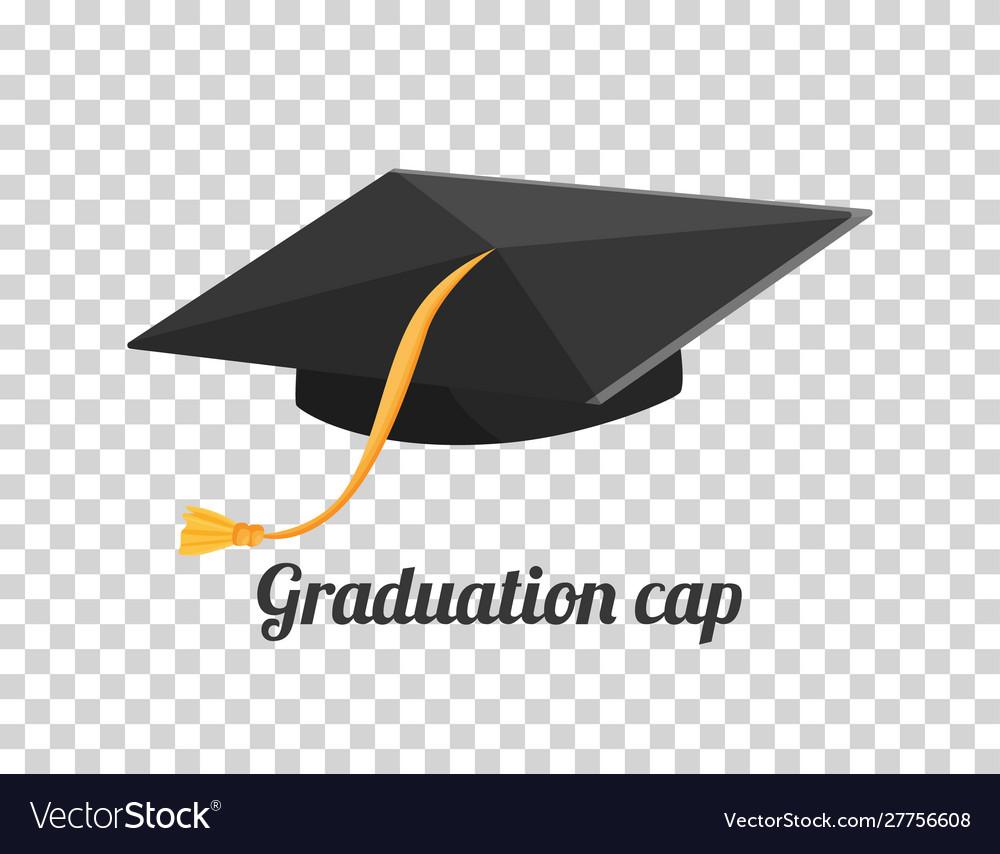 Graduation cap or hat in the