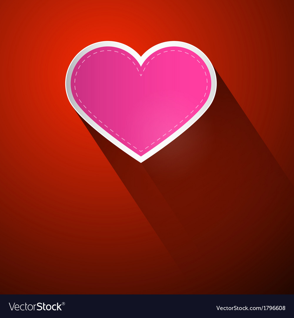 I Love You Theme Pink Heart on Dark Red Background
