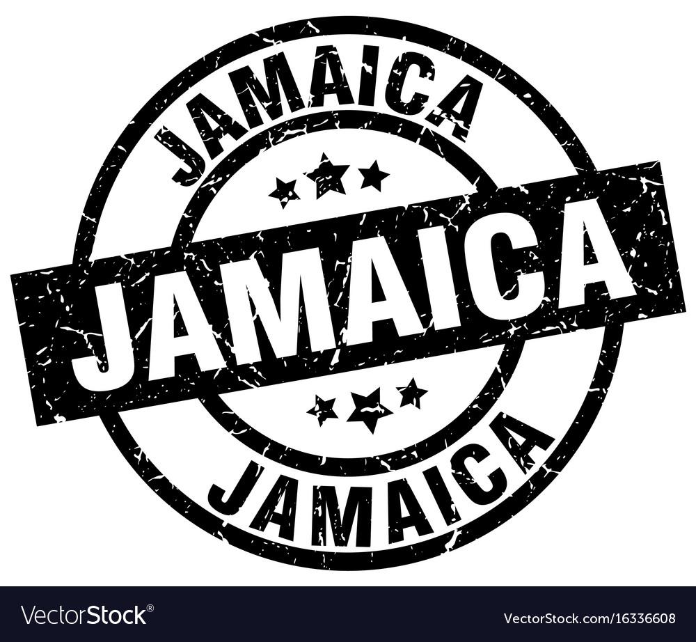 Jamaica black round grunge stamp vector image