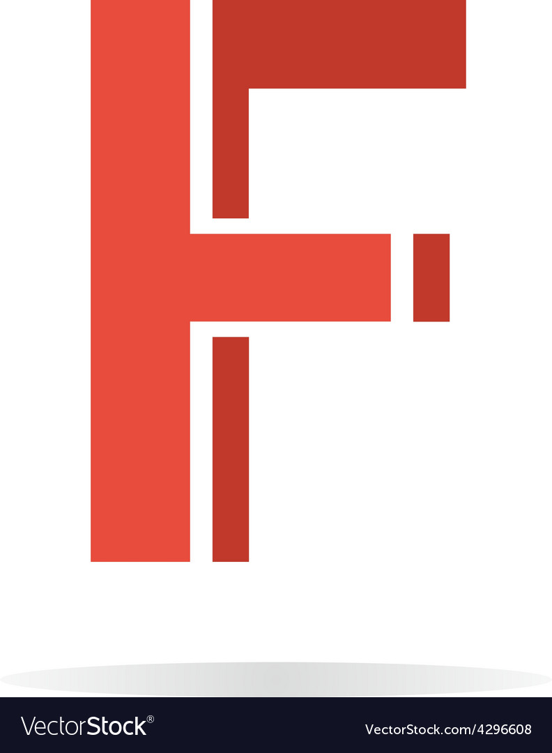 Logo F letter for company design template
