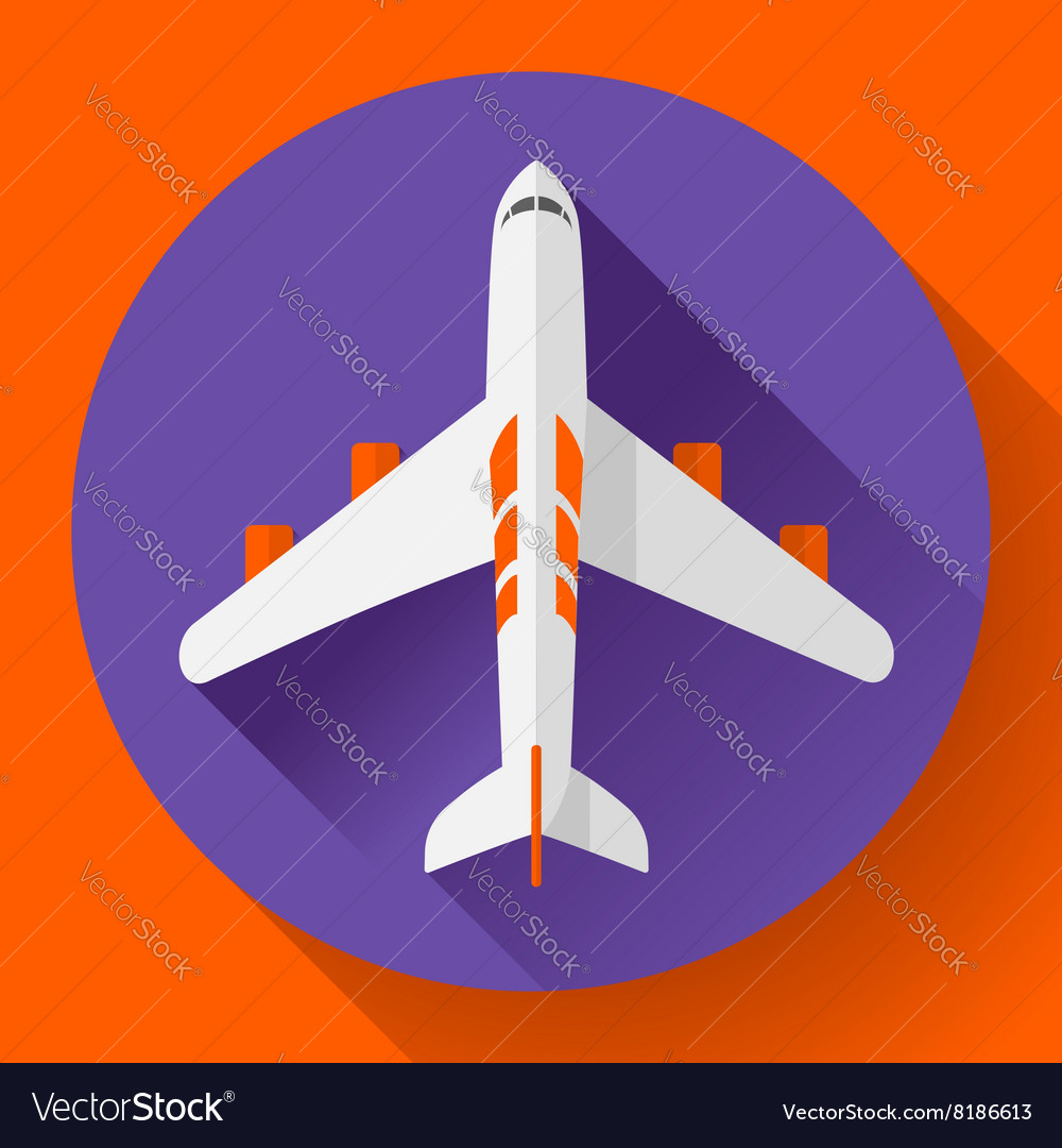 Airplane delivery icon Flat design style