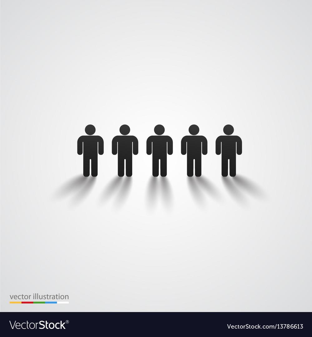 Black people silhouette row team concept