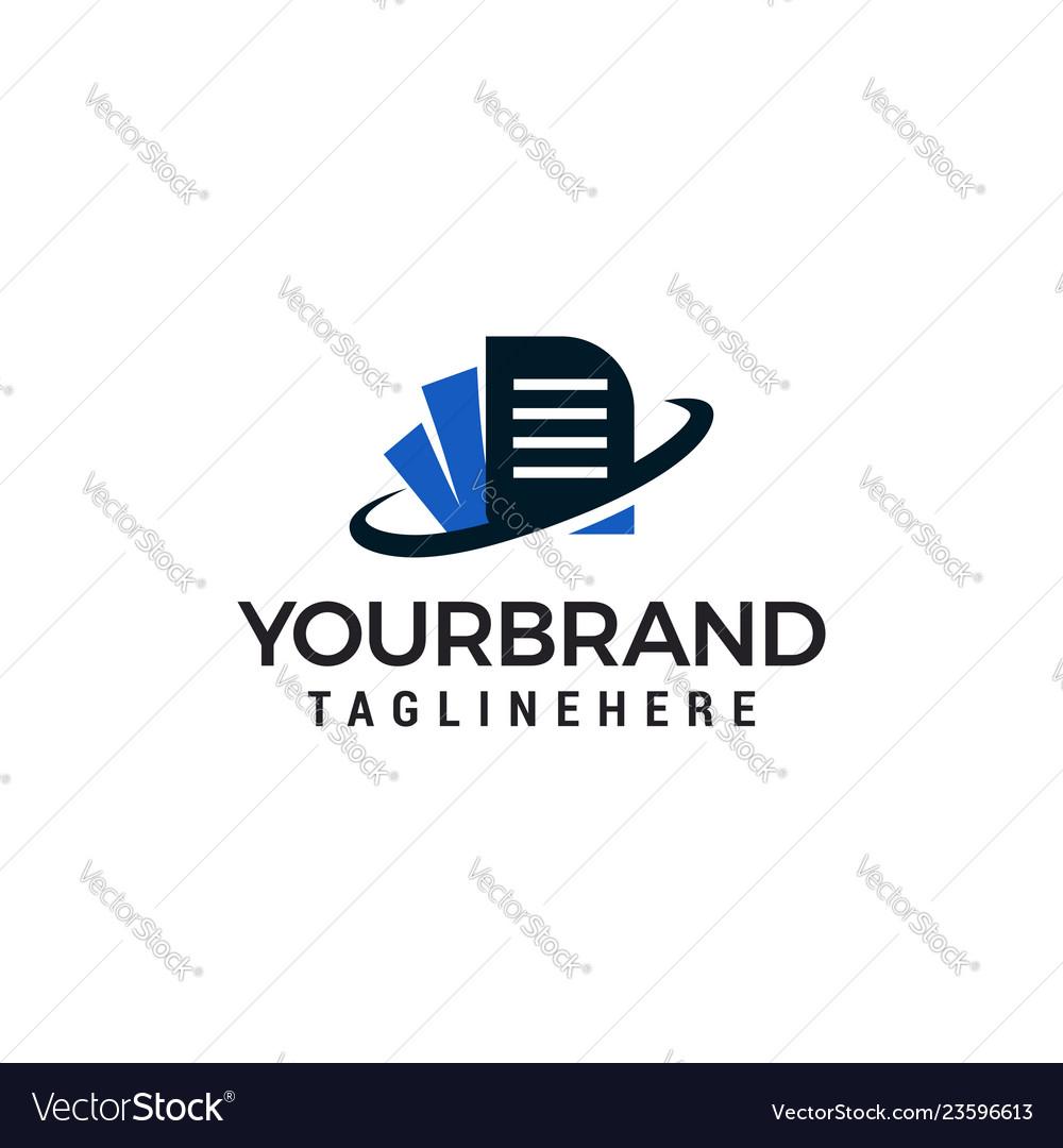 Document logo template design